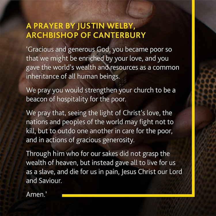 Tearfund's 50th Anniversary Prayer — Benefice of Woodstock and Bladon