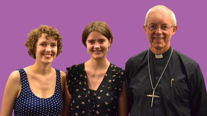 The Archbishop with Katharine and Ellie