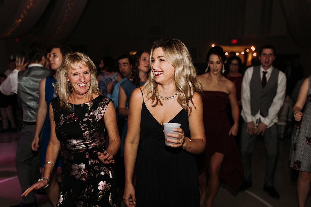 friends dance at wedding reception louisville ky