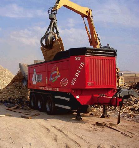 Planta móvil de trituración de residuos Zaragoza