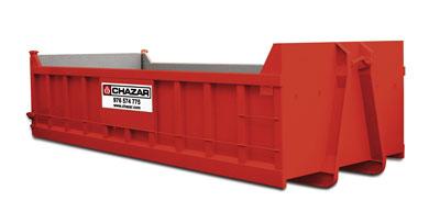 Apto para escombros o residuos de mucha densidad. Fácil instalación en espacios reducidos. MEDIDAS:6 x 2.5 x 1 m