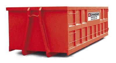 Utilizado principalmente para basura industrial: residuos de densidad baja tales como cartones, plásticos, maderas, residuos mezclados, etc. Interesa en naves bajas o con puerta de salida baja. MEDIDAS:6 x 2.5 x 1.5 m