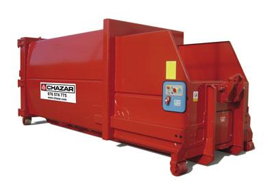 Este tipo de equipos se utiliza para residuos de poca densidad y gran producción. Se logra una reducción de los viajes necesarios de 1 a 4-5 con respecto a un contenedor de 30m3. MEDIDA:6.5 X 2.5 X 2.5
