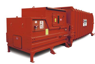 Residuos de densidad baja y gran producción. Son Idóneos para trayectos largos, ya que sólo se transporta el cartucho del equipo, quedando la prensa de compresión fija en la empresa. Medidas:3.2 x 2.8 x 1.5 m Contenedor con caja cerrada de 33m3 6.5 x 2.5 x 2.5m