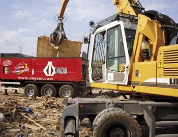 Planta movil chazar de trituracion de residuos industriales