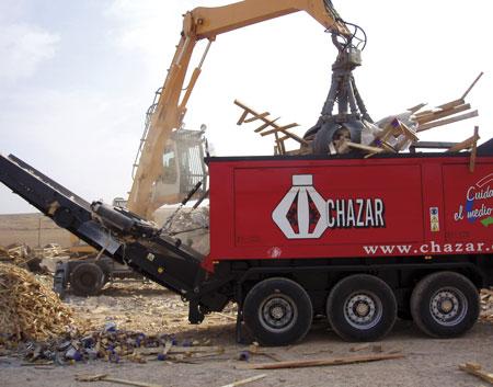 planta movil chazar residuos industriales en Zaragoza