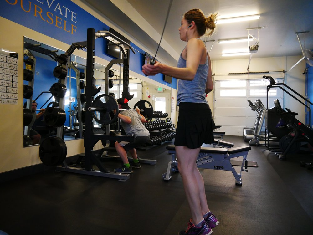 Alli and Brett fitness training hard workout crested butte south gym.jpg