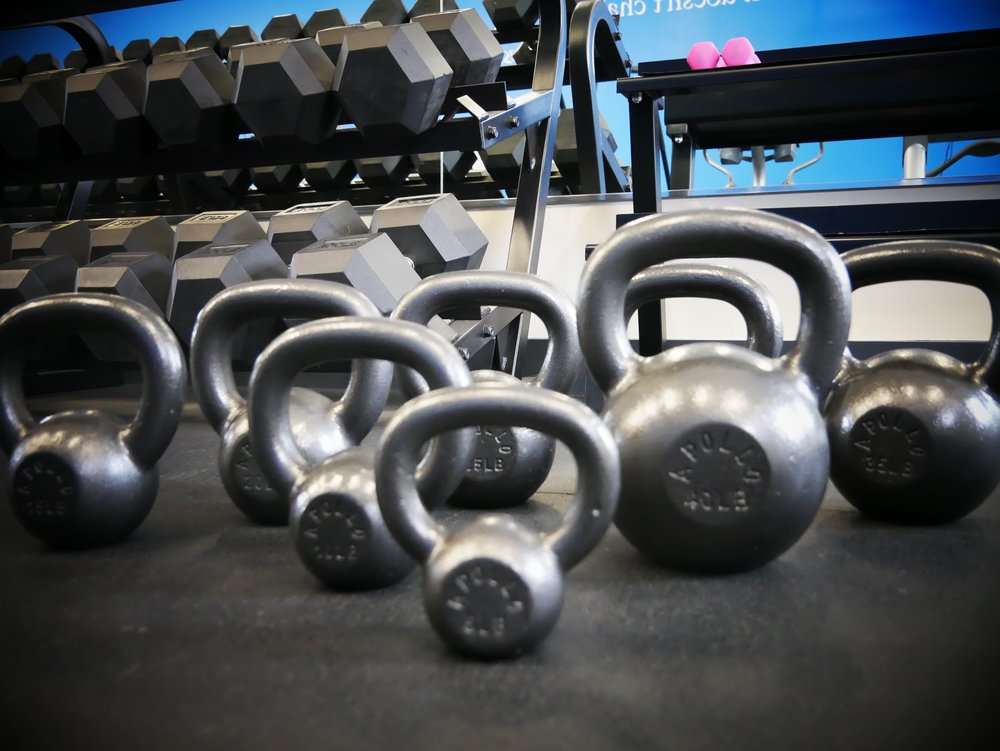 kettle bell set crested butte gym and fitness center