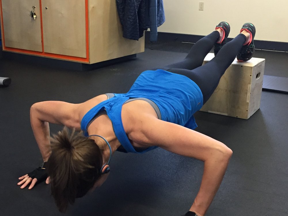 Elevated push-ups
