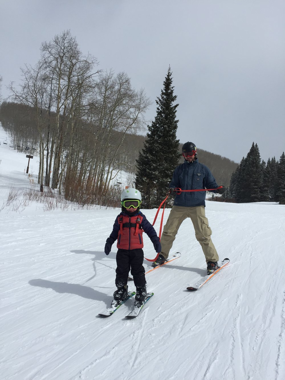 Skiin' with dad!