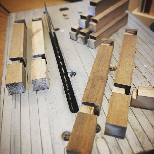 Most satisfying bit of woodworking today ... when you lay out all the cut bits and it's like ....yeah... #damnitfeelsgoodtobeagangsta 😎 Since I came back from Japan a couple years ago I have downloaded some crazy new precision skills that I never had before. I realised that most the precision comes from not what you're cutting, but simply the workspace around you. If you keep continuously organising your workspace and pieces into neat orderly patterns,  and having a work position where the body can simply relax, then the piece turns out like the space that created it. So it goes for all work.