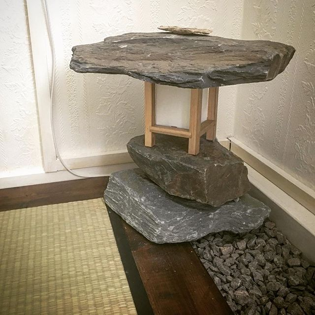been enjoying getting back into the world of materials and physical environments, making stuff… here is something you never knew you needed for your living room - a rock lantern… just some rocks from the garden centre, a frame made from scraps of hardwood, and a basic bulb holder. . #interiordesign #upcycled #scrapheapfurniture #zeninterior #rocks #lighting #objectswithsoul #soulfulobjects #meditation