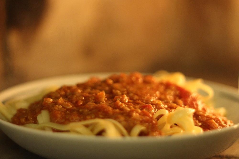 spagettiochärttempesås