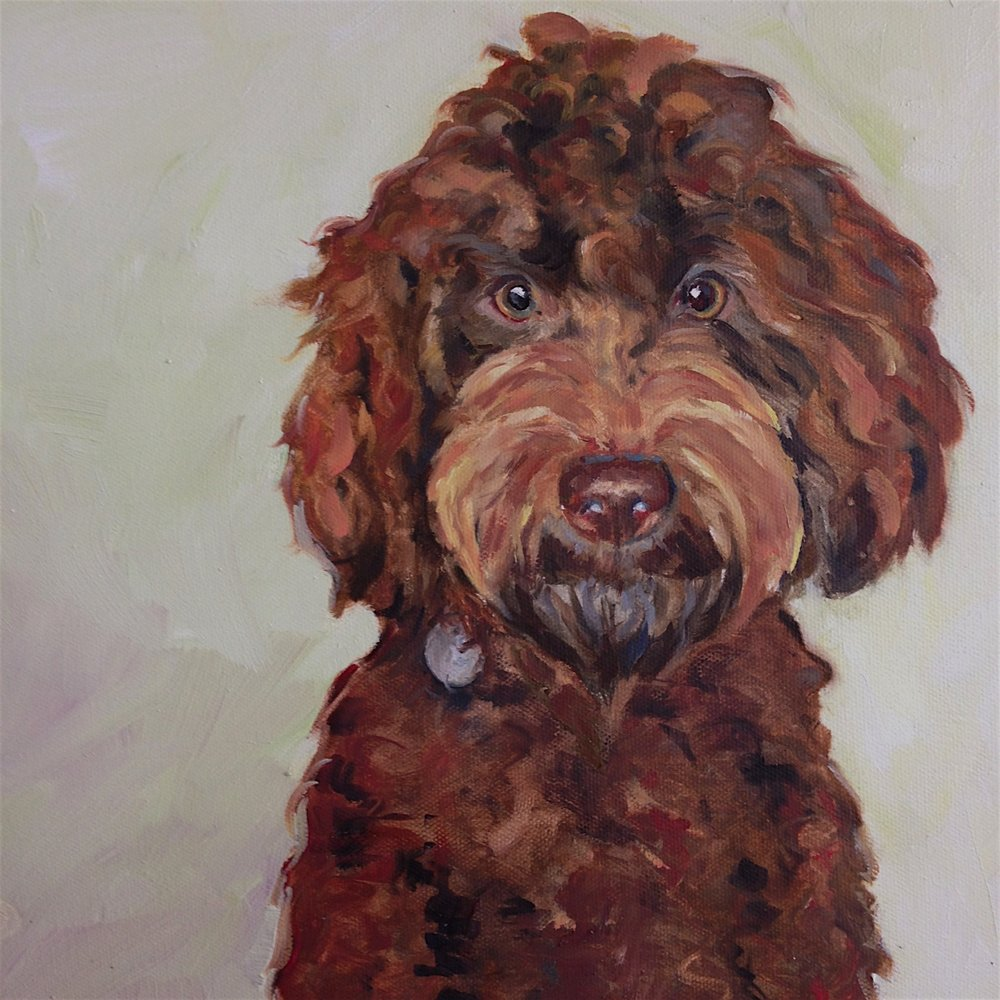 Sybil, oil on canvas, 40cm x 40cm