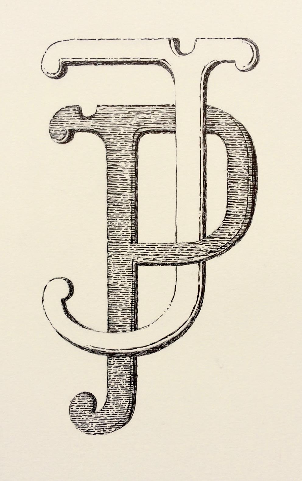 hand drawn logo for Joanna Plant Interior Design