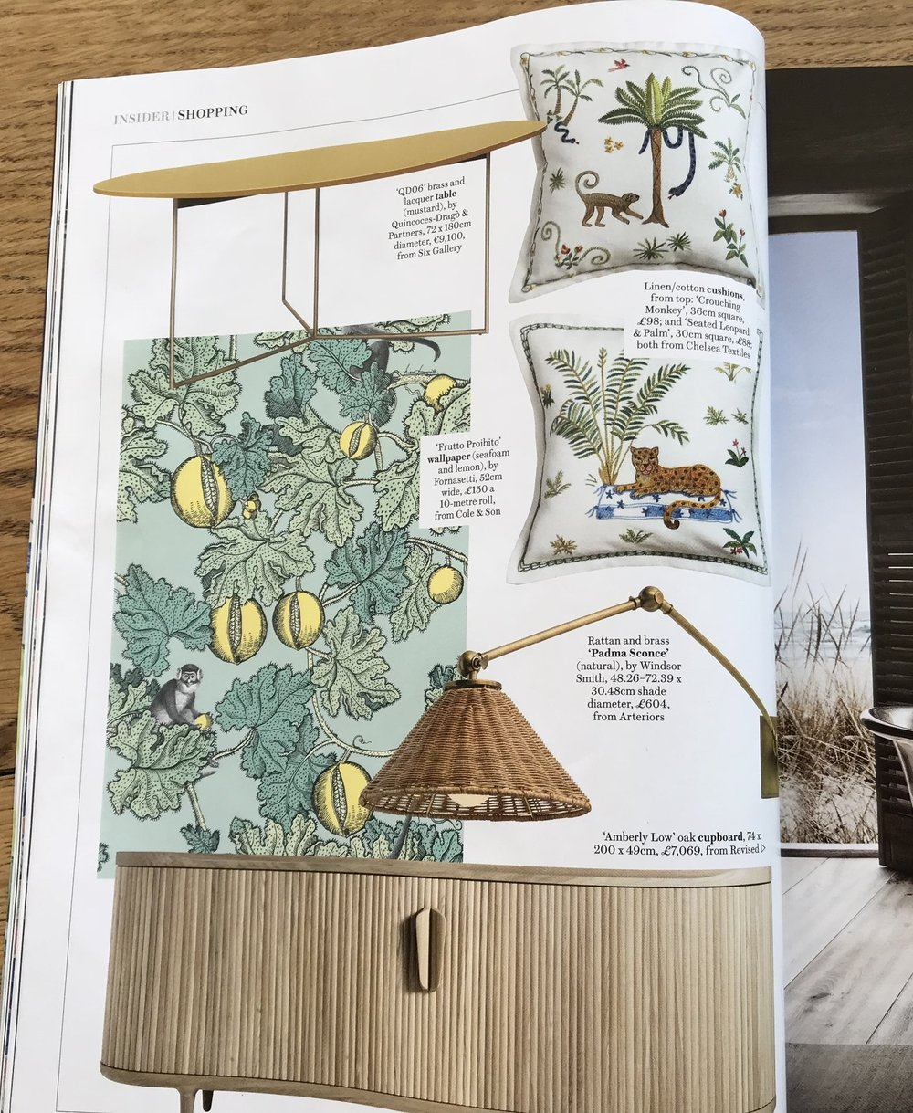 Chelsea Textiles cushions featured in House and Garden September 2018