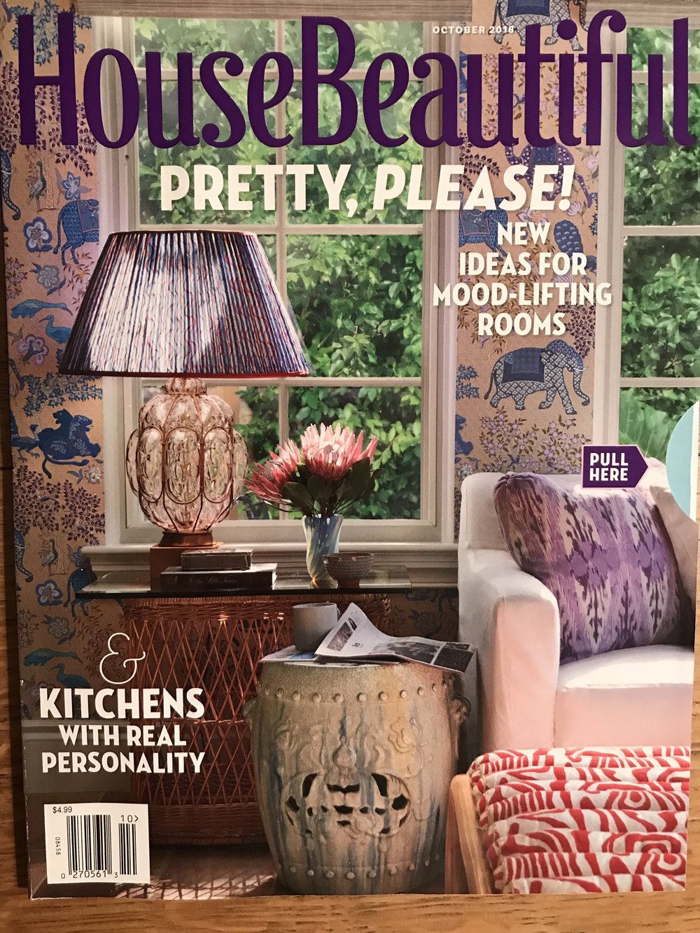 Feature on portraiture in House Beautiful US October 2018
