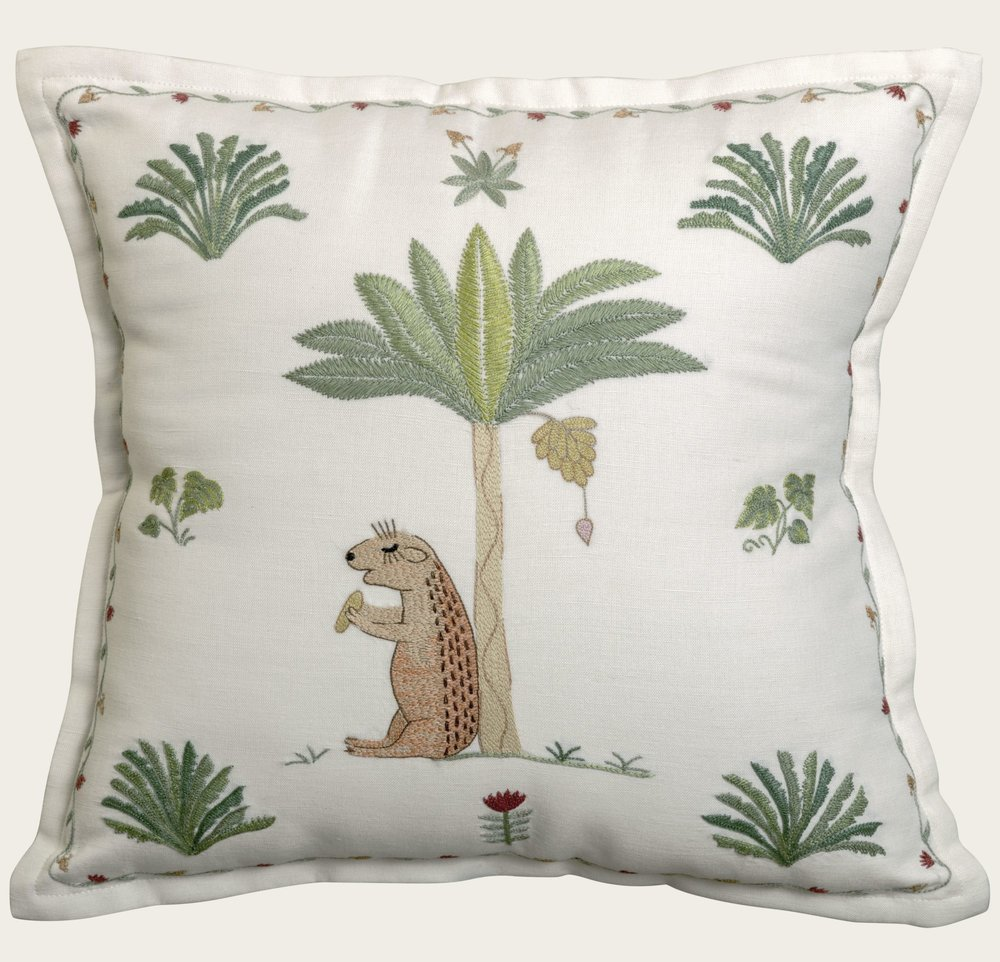 designs for hand embroidered cushions