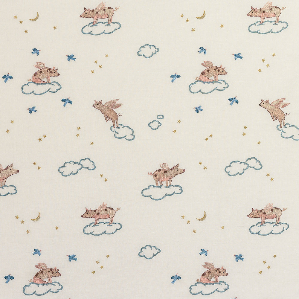 """Pigs Might Fly"" textile design"