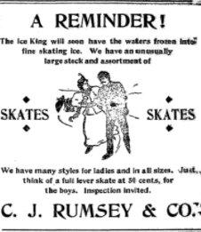 Ad from the Ithaca Journal, December 2, 1896