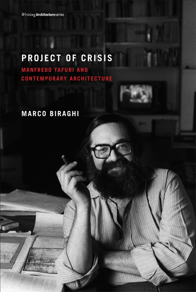 "Project of Crisis: Manfredo Tafuri and Contemporary Architecture  by Marco Biraghi  ""Tafuri's analyses of modern architecture have lost nothing of their sharpness and relevance. In this painstakingly thorough rereading of his main texts on twentieth-century architecture, Marco Biraghi offers a fresh understanding and contextualization of Tafuri's project of crisis. Interconnecting Tafuri once again with the Italian and European intellectuals who were his main interlocutors, Biraghi unerringly unravels the intricacies of Tafuri's thinking, positioning him in the ends as an intrinsically  modern  critic of modernity, and pitching him against the  postmodern  attitude embodies in the work of Rem Koolhaas.""   – Hilde Heynen, head of the Department of Architecture, Urbanism and Planning, Katholieke Universiteit Leuven, Belgium; author of  Architecture and Modernity: A Critique"