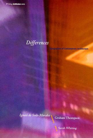 "Differences: Topographies of Contemporary Architecture   by   Ignasi de Solà-Morales   Edited by   Sarah Whiting   Contemplating the panorama of contemporary art and architecture, de Solà-Morales posits that there is no one way to describe today's practice; instead he concentrates on elucidating the present dynamic of contrast, diversity, and tension. In an unorthodox pairing, de Solà-Morales derives his inspiration from both phenomenology and Deleuzean poststructuralism. Combining these philosophical inheritances allows him to reinvoke the human subject without referring to classical humanism or announcing the death of the  object . His retrospective review of the disciplines of art and architecture, particularly as they have developed since World War II, provokes him to design, draft, and ultimately build a description of modernism's lineage of subjectivity. The result is a provocative construction of fluid ""topographies"" that articulate, rather than depict, the shaky ground on which our current artistic and architectural production rests."