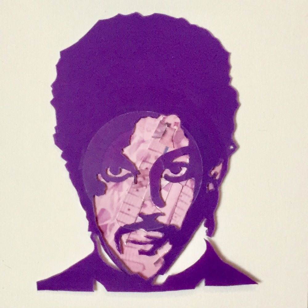 "Purple Prince . 2016.  Vinyl on Canvas, 16"" x 16"" (41 x 41 cm). Private Collection."