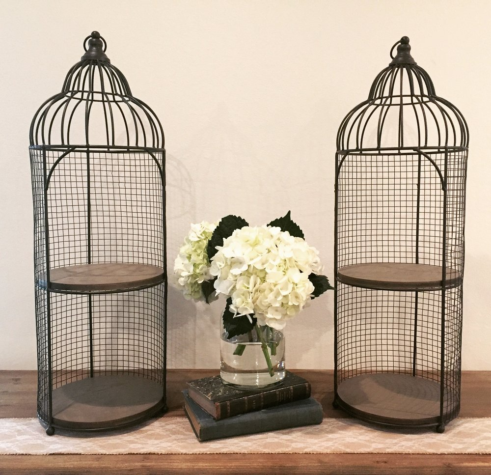 LARGE OPEN TIERED BIRD CAGES