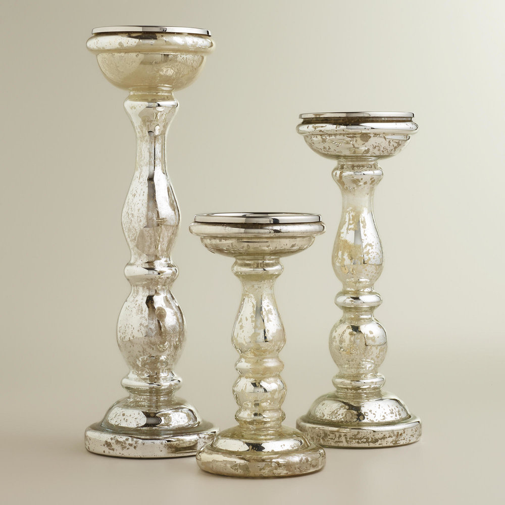 MERCURY CANDLE HOLDERS