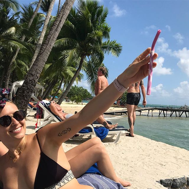 Forever carrying my reusable straws for sharing with friends #notimetowasteinitiative #beachplease
