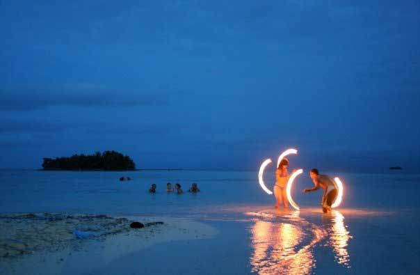 Firedancing on roatan