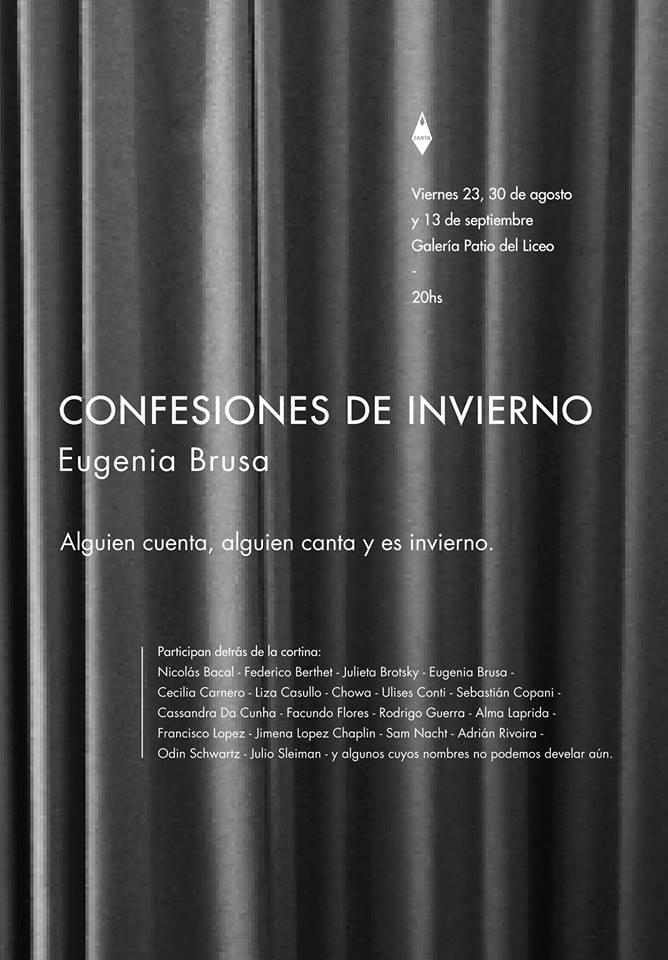 Confesiones de Invierno de Eugenia Brusa, 2013.