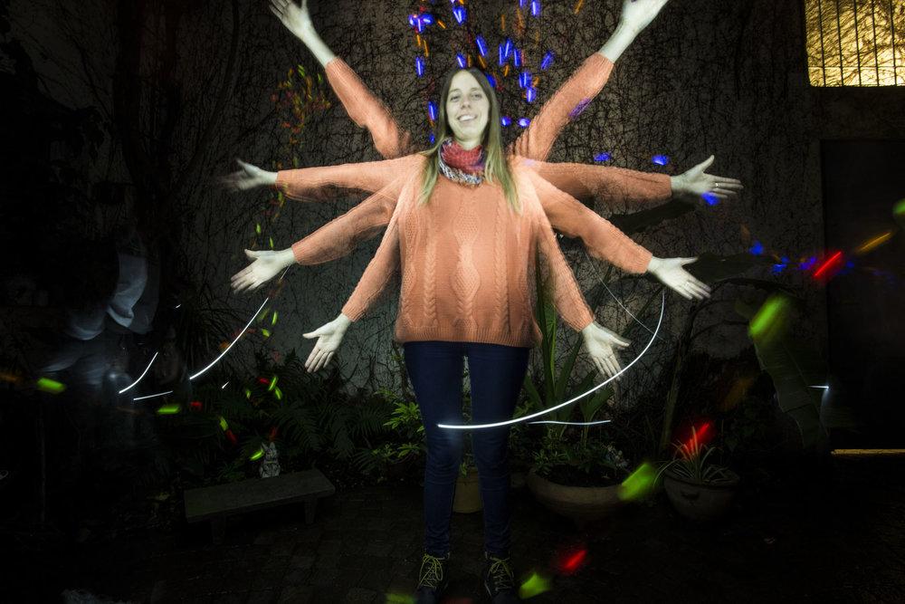 Paz Alvarez Experiencia nocturna con los alumnos de Fotografia Digital