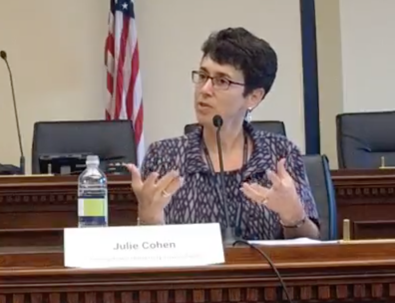 Professor Julie Cohen briefs Congressional staff on CDA Section 230