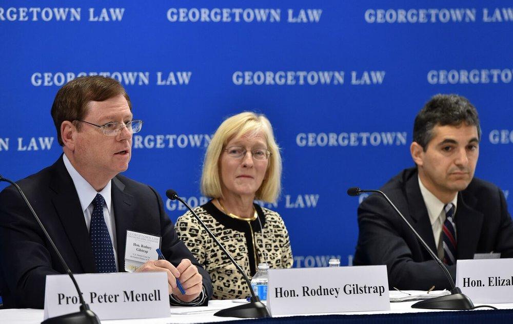 Judges Rodney Gilstrap (E.D. Tex.), Leonard Stark (D.Del.) and Elizabeth Laporte (N.D. Cal.)