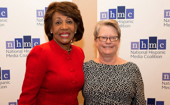 Georgetown's Angela Campbell (r) with fellow NHMC award recipient Congresswoman Maxine Waters