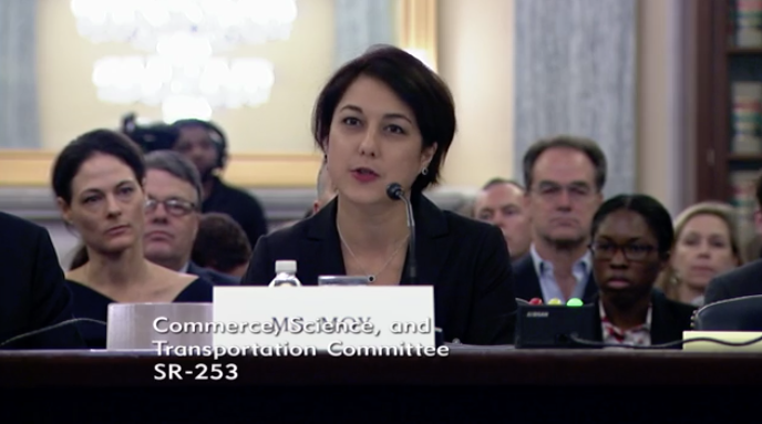 Georgetown Privacy Center's Laura Moy testifies before the Senate Commerce Committee