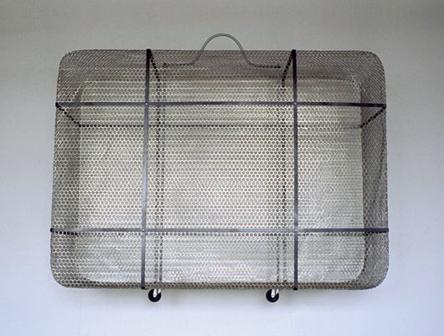 Going My Way, 2001,   nickel plated mild steel, 42 x 48 x 18 inches / 106.7 x 121.9 x 45.7 cm