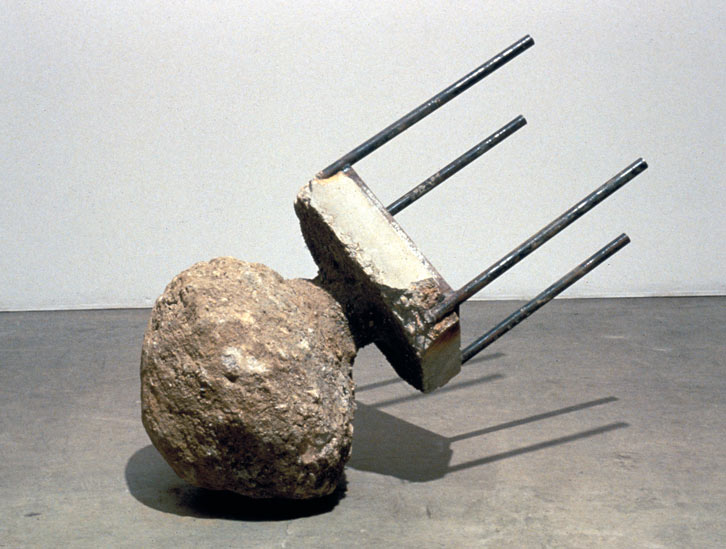 Planet on a Table, 1989,   reinforced cast concrete, 37 x 46 x 18 inches / 94 x 116.8 x 45.7 cm