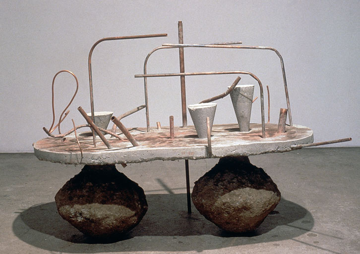 Terminal Landscape, 1989,   reinforced cast concrete and copper pipe, 47 x 66 x 47 inches / 119.4 x 167.6 x 119.4 cm