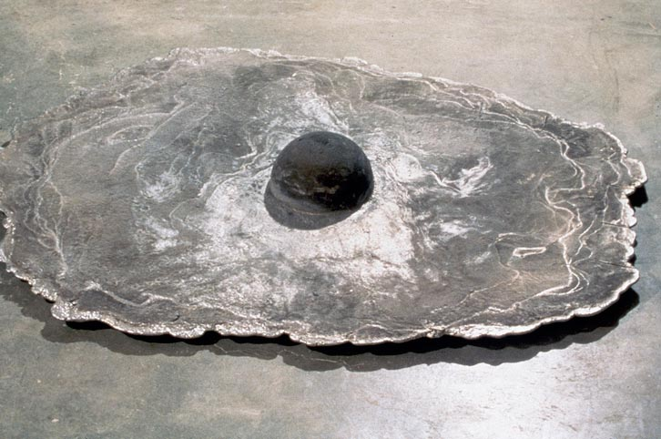 Cloud Egg, 1992,   cast aluminum, 6 x 59 x 46 inches / 15.2 x 149.9 x 116.8 cm