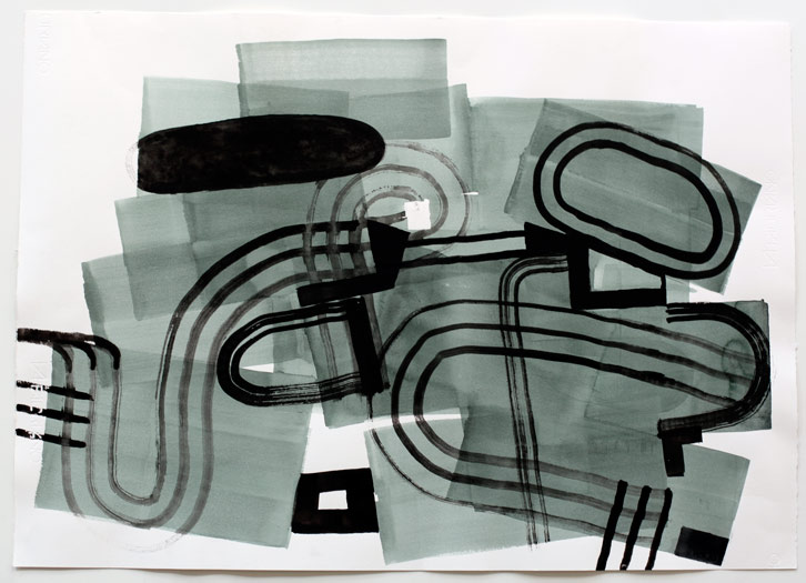 Untitled-10/002, 2010,   gouache on paper, 22 x 30 inches / 55.9 x 76.2 cm