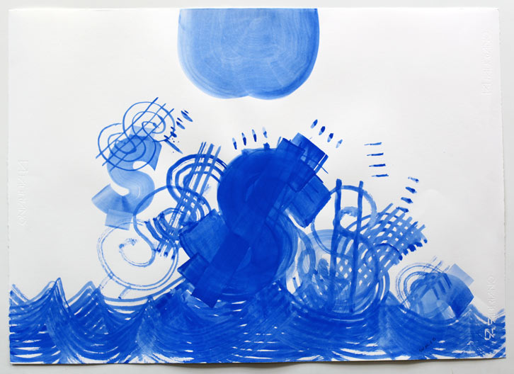 Untitled-10/007, 2010,   gouache on paper, 16.5 x 23 inches / 41.9 x 58.4 cm