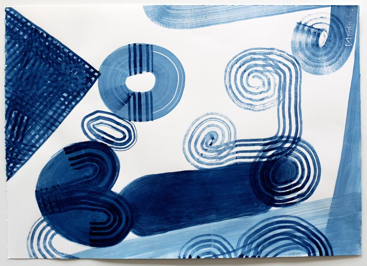 Untitled-10/014, 2010,   gouache on paper, 19 x 24.5 inches / 48.3 x 62.2 cm
