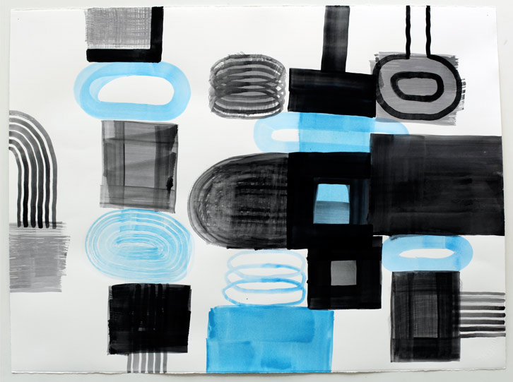 Untitled-10/016, 2010,   gouache on paper, 22 x 30 inches / 55.9 x 76.2 cm
