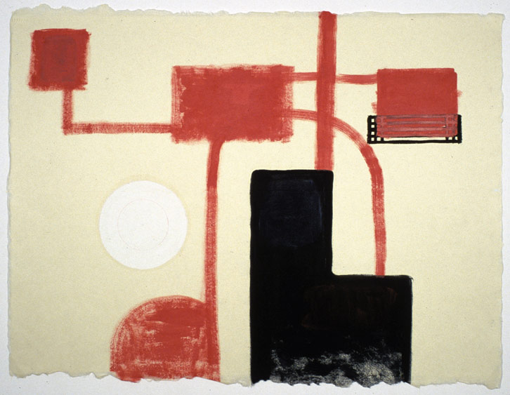 Block Group-010 (Desert Landscape), 2002,   oil on Japanese paper, 26.5 x 35 inches / 67.3 x 88.9 cm