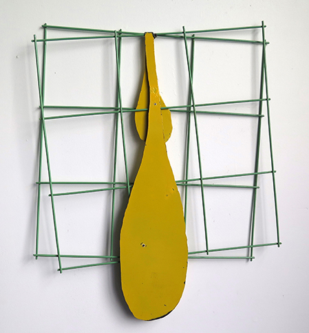 Saddle, 2014,   painted mild steel, 42 x 29 x 26 inches / 106.7 x 73.7 x 66 cm