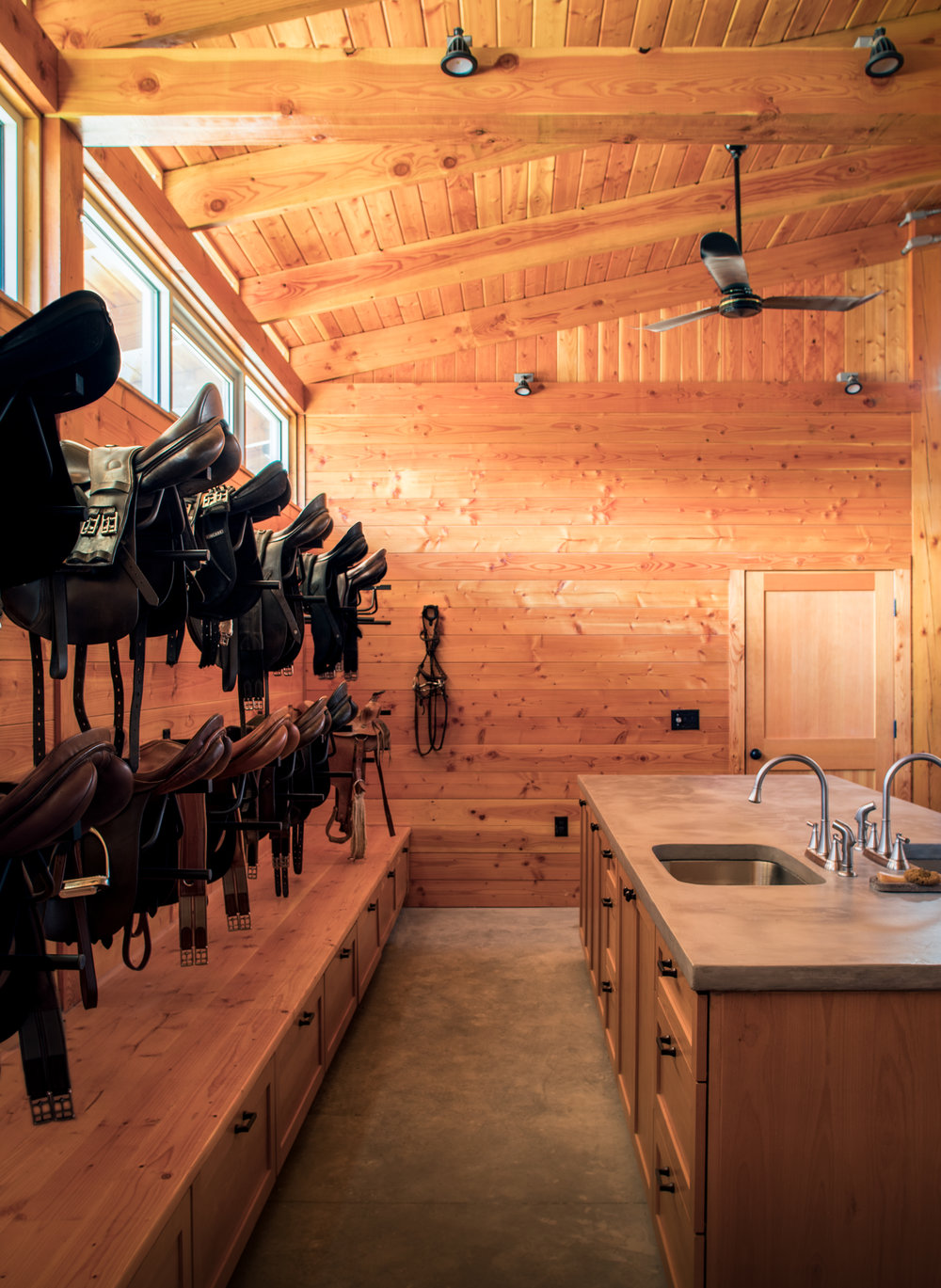 2 Heated Tack Rooms -