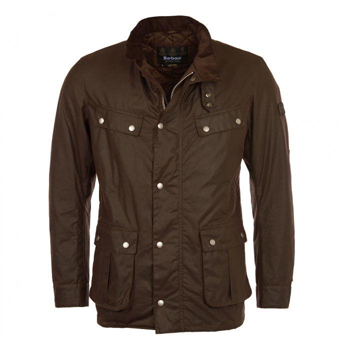 Duke olive wax jacket Barbour International