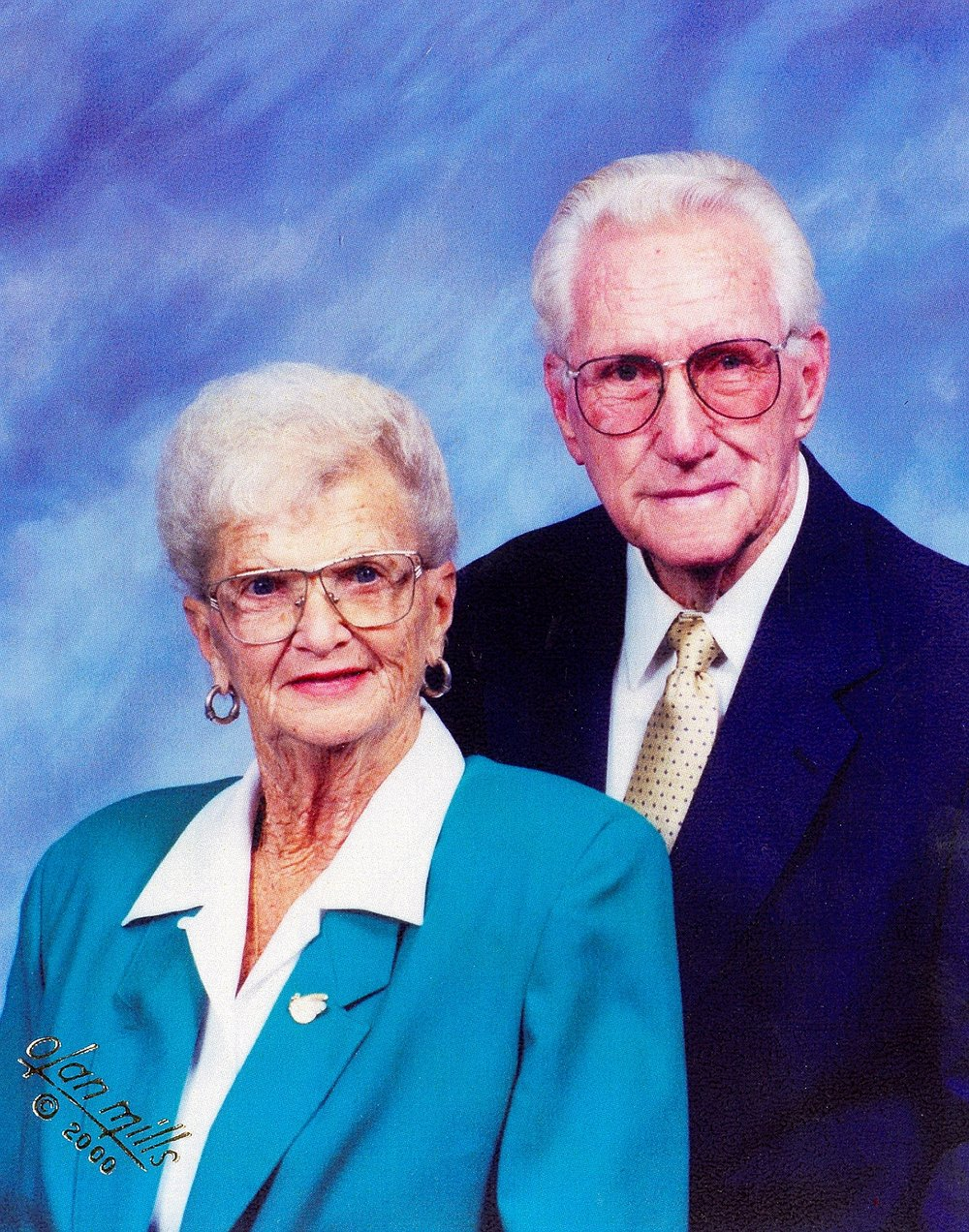 Grandma Dot & Grandpa Fred's church picture